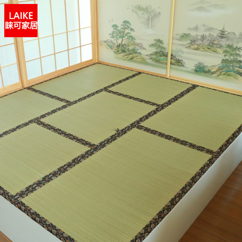 Japanese tatami mats couch couch rice meters bed pad Piaochuang grass coconut mat to mat fixed seat cushion pad