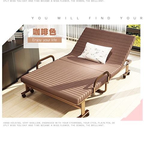 The single double folding bed during sleep accompanying adult children and simple household bed 0.8 meters 0.9 meters 1 meters