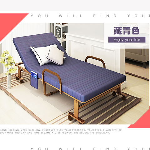 Folding bed single 0.8 meters 0.9 meters 1 meters during sleep in children and adults accompanying two simple household bed