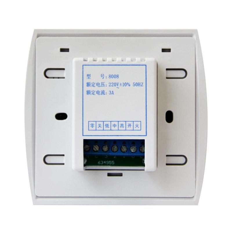 kesk - ventilaatori spiraal õhk soojuspumbad termostaat lüliti kolm kiirust 8008 juhtpaneel