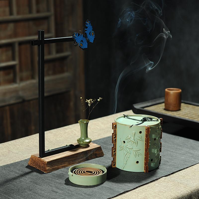 восточные земли старинные керамические кадильницу творческих домашнего номера ретро висит печи дома ладан Ароматерапия печь