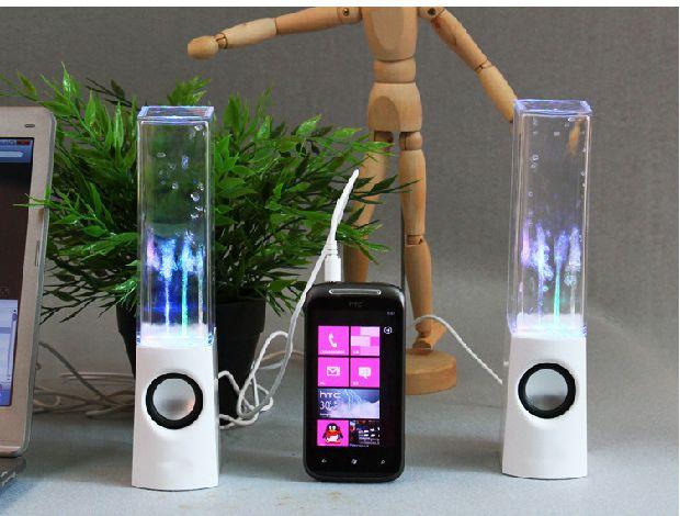 水舞喷水音响七彩灯手机笔记本台式电脑低音炮创意喷泉迷你小音箱