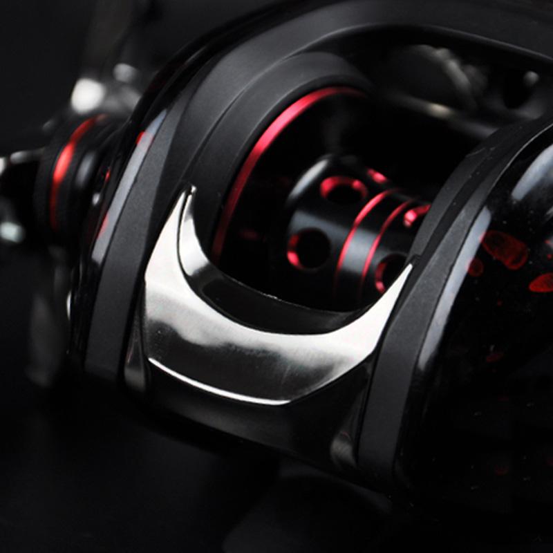 La explosión de la línea de tiro de rueda rueda de metal y las gotas de agua pez de la rueda izquierda / derecha 雷强轮 rueda doble freno magnético