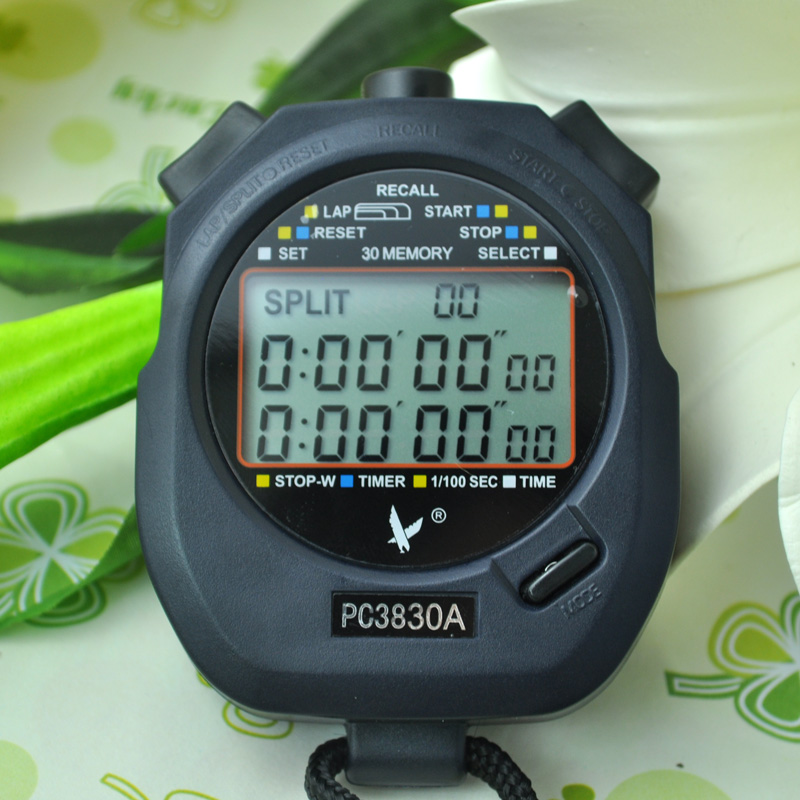 Timer three row 30/60/100 track and field referee competition electronic stopwatch countdown three rows 60
