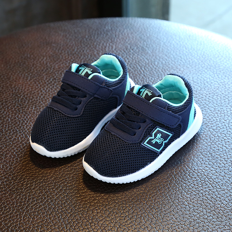 小孩鞋子男童鞋休闲儿童透气 宝宝网鞋1-3岁软底2运动鞋4女童秋鞋