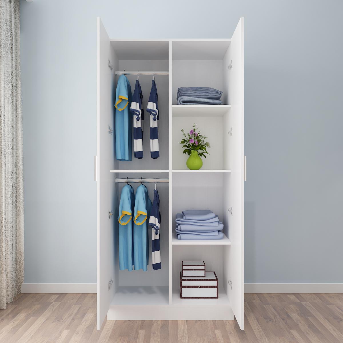 2 placard à portes en bois - bois casiers de grande capacité peut être personnalisé de l'armoire armoire armoire simple de balcon
