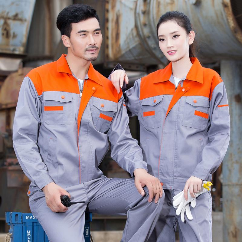комбинезон одежда костюм мужчины с длинными рукавами проекта рабочей одежды в весенний и осенний оснастки спецовка мужчин оснастки форму одежды авторемонтный завод