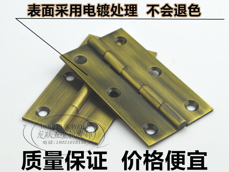 1.5 pulgada 2 pulgadas de bronce bisagra bisagra de la puerta de muebles antiguos de cobre cobre pequeñas bisagras de puertas y ventanas de buena calidad