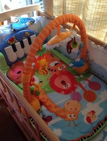 Pedal Piano Fitness klatka dla dzieci wczesna edukacja muzyka gry dywan noworodek indeksowania mat 0-1 lat zabawka