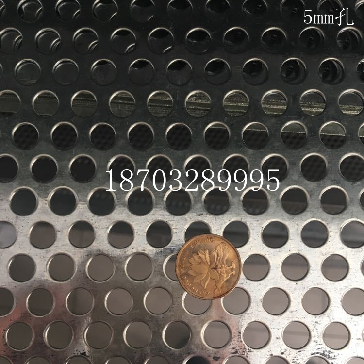 Stainless steel anti-theft window balcony net pad metal plate galvanized round flower pot air hole mesh