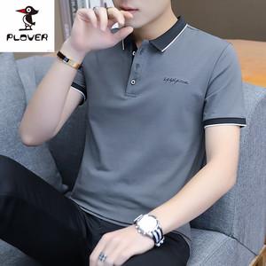 Plover2019夏季潮男Polo衫个性百搭时尚简约休闲商务男士棉T恤