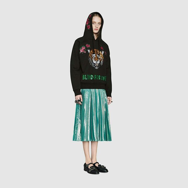 ART/2017G Τέιλορ ήταν σπίτι με την παράγραφο από χάντρες κεντήματα τίγρη με τα λουλούδια βαμβάκι μαύρο κουκούλες