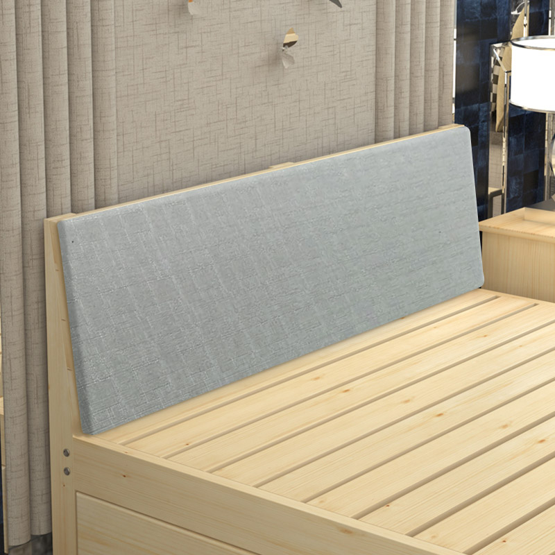 A new simple rental housing wood bed double 1.8 meters 1.5 tatami modern minimalist single bed by pine