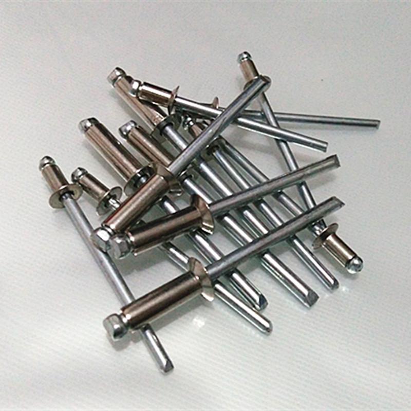 GB12617 304 acero semi - abierto de avellanado de remaches tornillos remaches de cabeza plana y decoración de uñas de 3.0 de serie