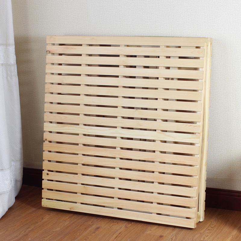 pine folde sengen seng wu seng, dobbeltseng enkel seng plank seng - seng, lille seng, massivt træ seng til voksne