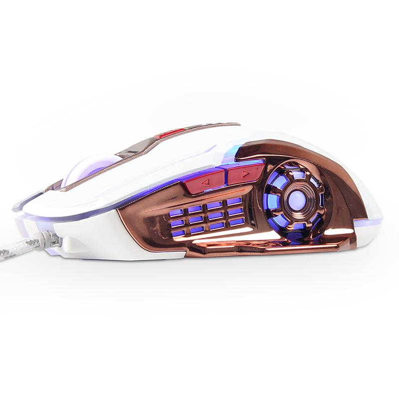 罗摩X5カスタム鋼板ろくキー競技の機械的な専門のゲームマウス