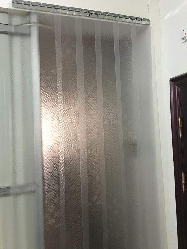 La cortina de aire acondicionado doméstico sala transparente de plástico PVC suave cortina de humo de la cocina del mosquito material puro de anti - Envejecimiento