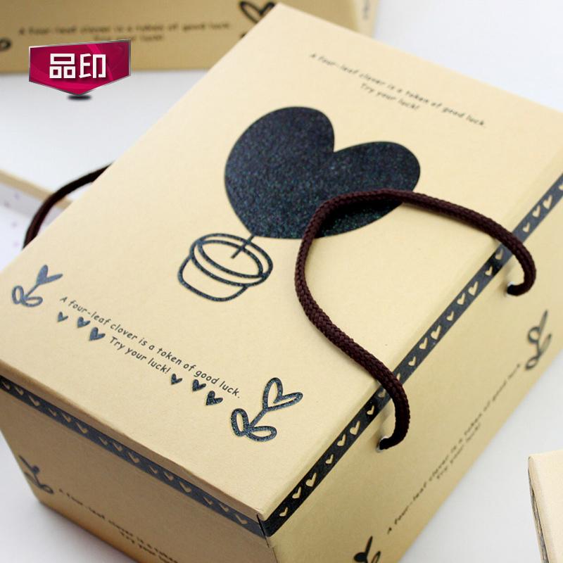 Grandes cajas de regalo la Caja rectangular gruesa ropa, zapatos, cajas de regalo de cumpleaños con una caja de papel Kraft