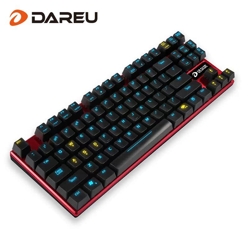 أفضل طبعة الأحمر رمح الميكانيكية دال سبائك 87 مفاتيح لوحة المفاتيح الخلفية LOLCF eSports لعبة لوحة المفاتيح مفتاح ميكانيكي