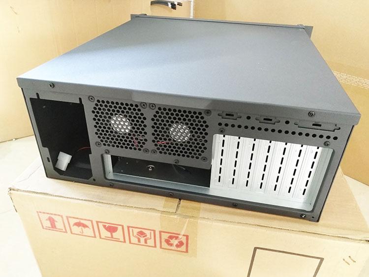 4U mới vỏ máy tính 4U5008E đen máy phục vụ công nghiệp thép dày vỏ máy tính 1.2mm