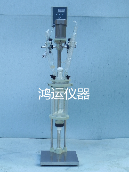 Double layer glass reaction kettle 5L double jacketed reactor reaction bottle reactor experimental chemical mixing double kettle