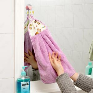 强力吸水加厚厨房卫生间洗碗毛巾抹布擦手 擦手巾挂式可爱