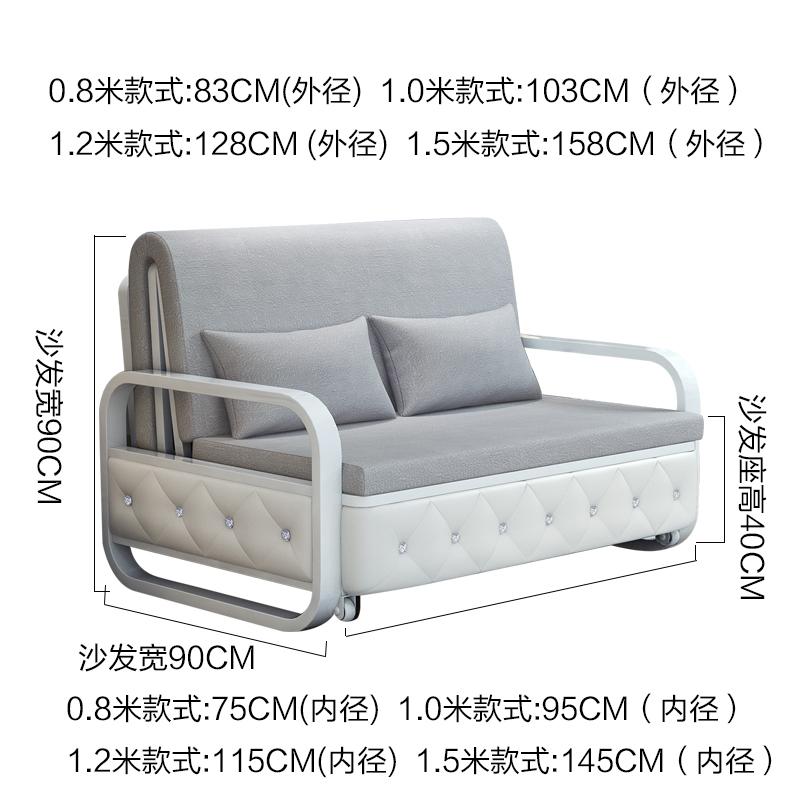πτυσσόμενο καναπέ - κρεβάτι 1,2 m 1,5 m το μικρό μέγεθος του σαλονιού έπιπλα απλή σύγχρονη μονό καναπέ.