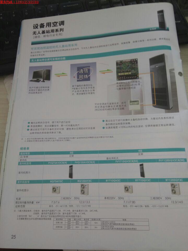 ez a speciális precíziós 单冷 12.5KW 5p a bázisállomás 柜机 FVY125DQV2C háromfázisú villamos