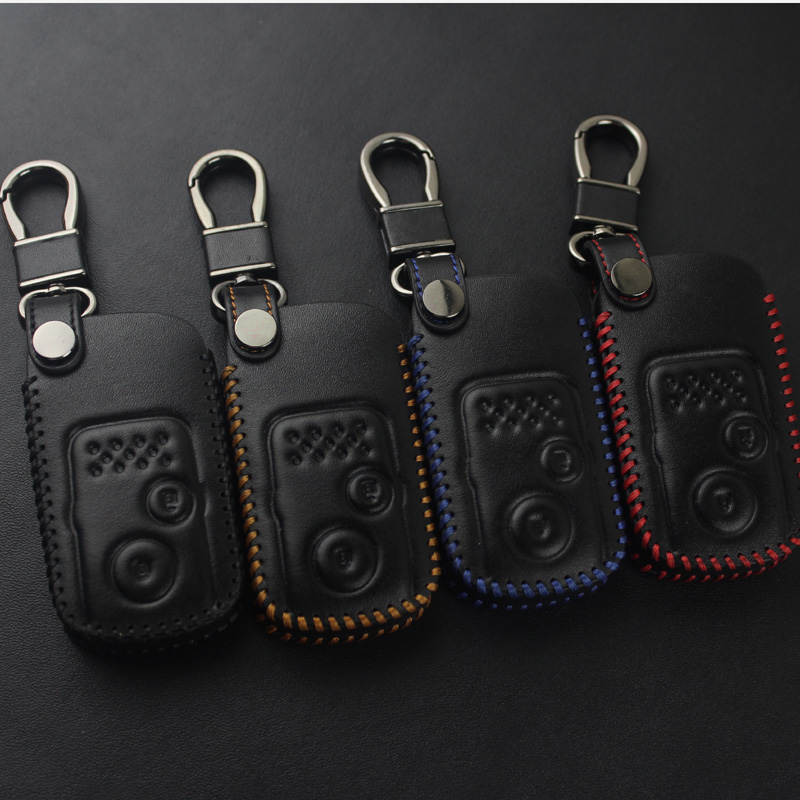 For Honda's old CRV leather key bag geshitu car remote control protective sleeve buckle civic activities