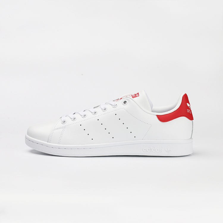 アディダス紳士靴パンプスクローバースミスのスミス赤白白い靴M20326S75104尾尾
