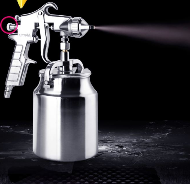 Metal paint pot, paint spray gun, latex paint spray gun, small caliber pneumatic spray gun, high efficiency suction pressure reducing valve