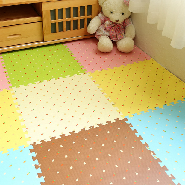 Foam mat floor large mosaic puzzle board children bedroom tatami pad climbing crawling pad thickening 2CM