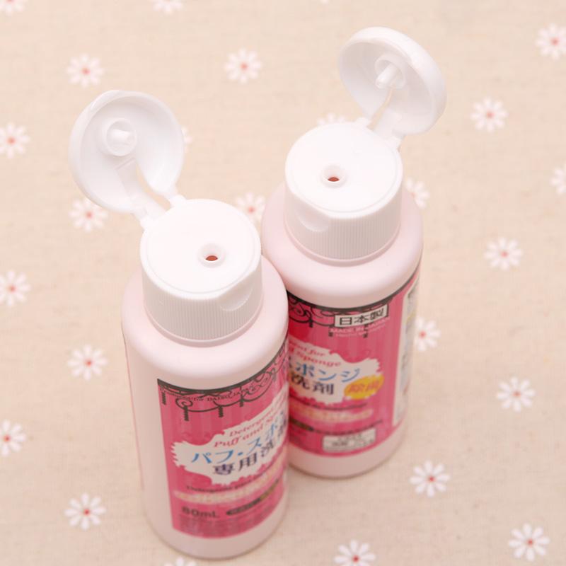 日本Daiso大創パフ刷具コットン化粧用ブラシ専用洗浄剤80ml洗浄殺菌M032
