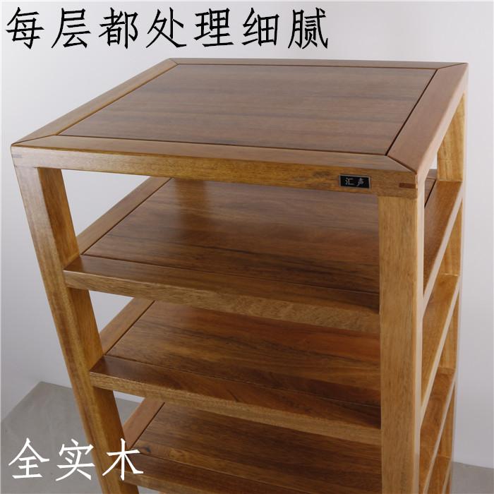 Un soporte de madera de roble o nogal audio teca Caja tres, cuatro, cinco, seis capas de personalización del sistema.