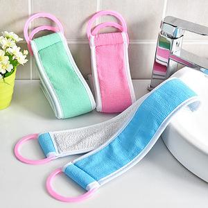 2条拉背条长条洗澡巾 洗澡神器加厚戳搓背巾强力搓泥免搓澡巾