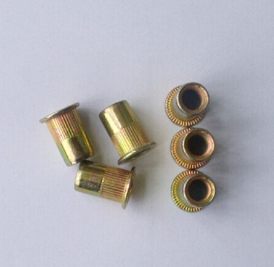 Pull rivet nut rivet nut, pull cap, flat head, six angle hobbing riveting nut