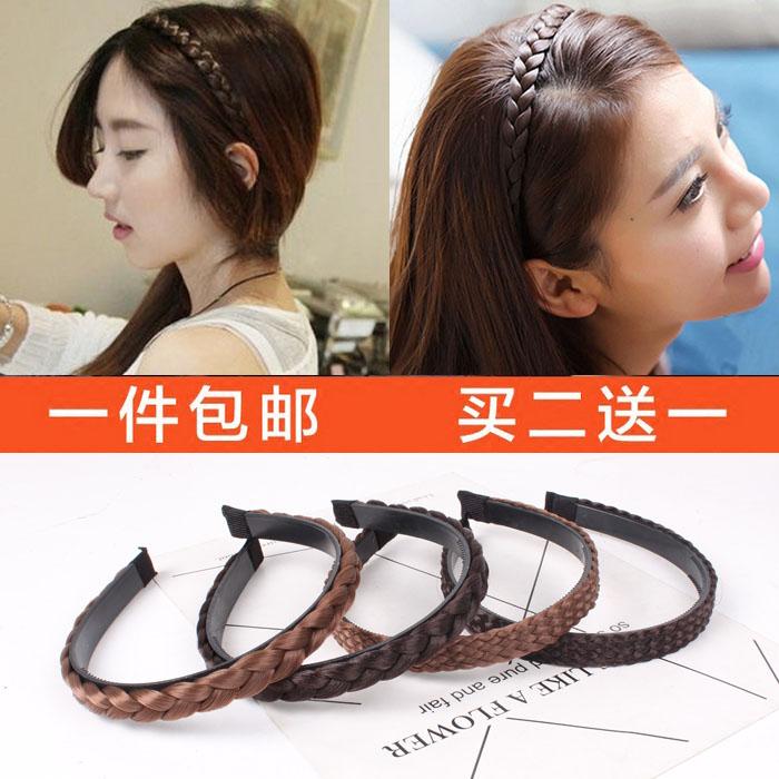 South Korea led headdress wig hoop cave broadside with teeth slip simple all-match twist braid hairpin head hoop