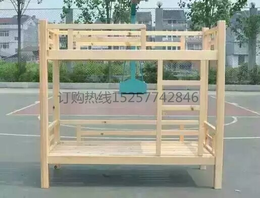Kindergarten wooden beds, upper and lower beds, children's double bed nap, pine double climbing ladder bed, lunch special bed out