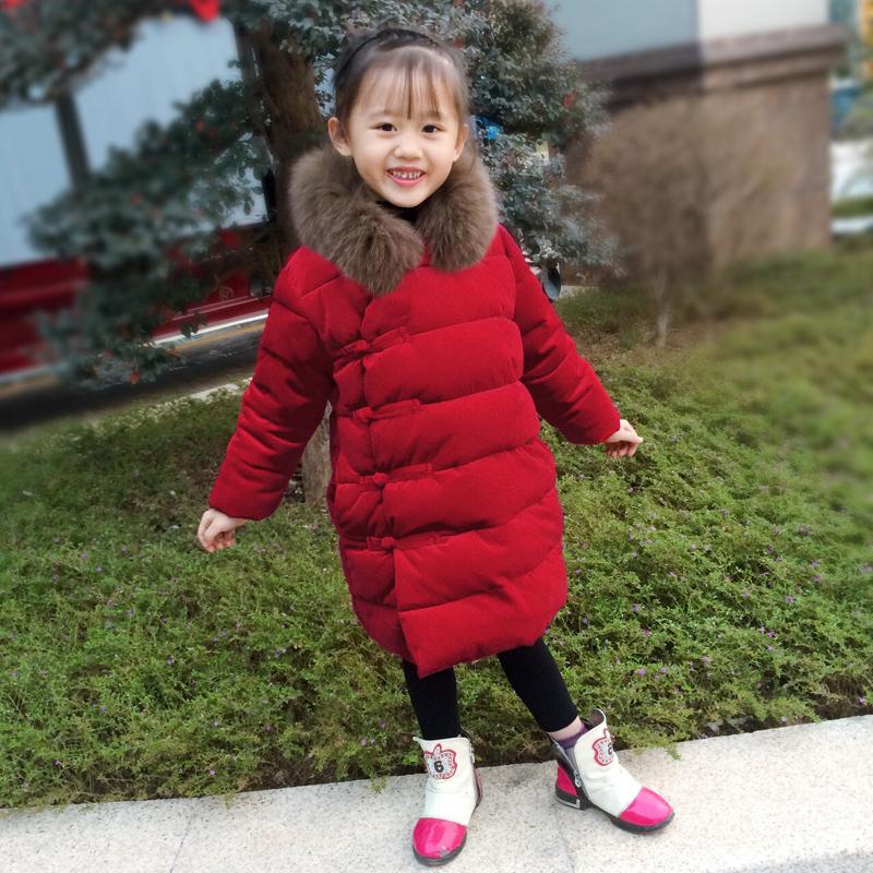 女童旗袍冬季棉衣童装棉服外套