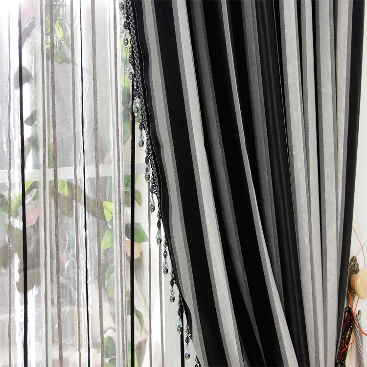 negro blanco y gris saln dormitorio norte americano producto fabricado cortinas de tela jacquard sombreado de alto