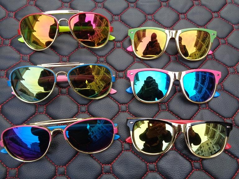 新款米丁儿童太阳镜墨镜潮蛤蟆镜亲子宝宝个性男童女童眼镜