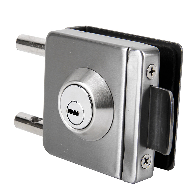 Burglarproof lock, single door lock, square toughened glass door lock, plug lock, open hole door lock