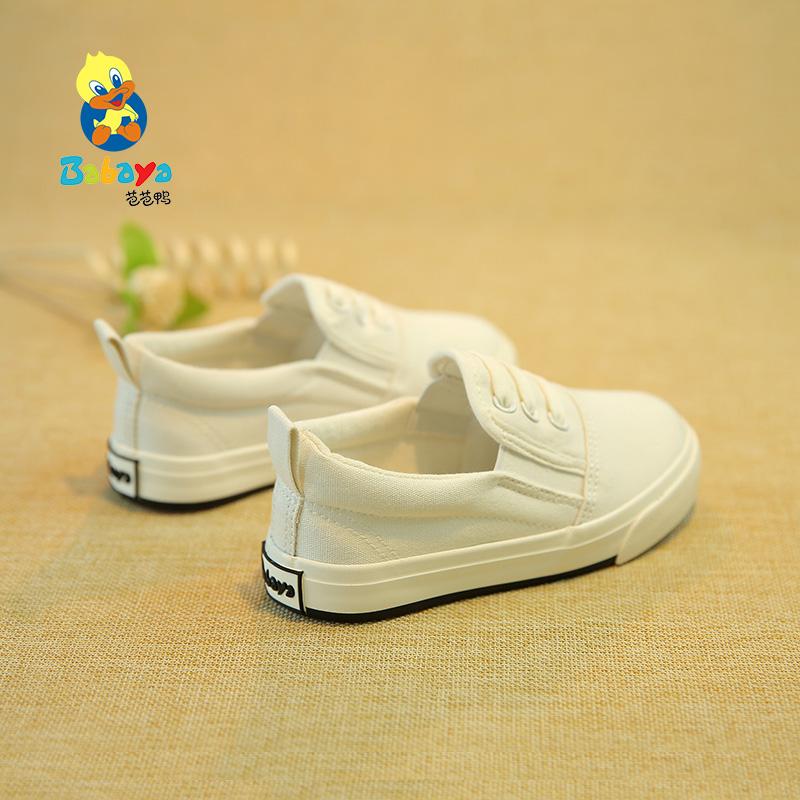 童鞋帆布鞋糖果色宝宝鞋芭芭鸭春款儿童布鞋懒人鞋乐福鞋男童女童
