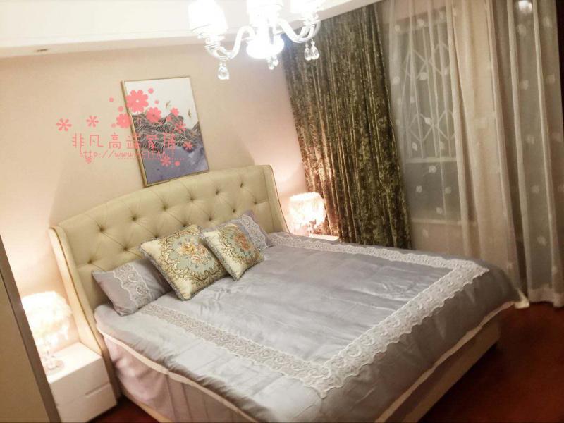 アメリカンカントリー寝室の布でダブルシンプル現代软包帯油圧筐体ベッド収納婚ベッドカスタマイズ可能