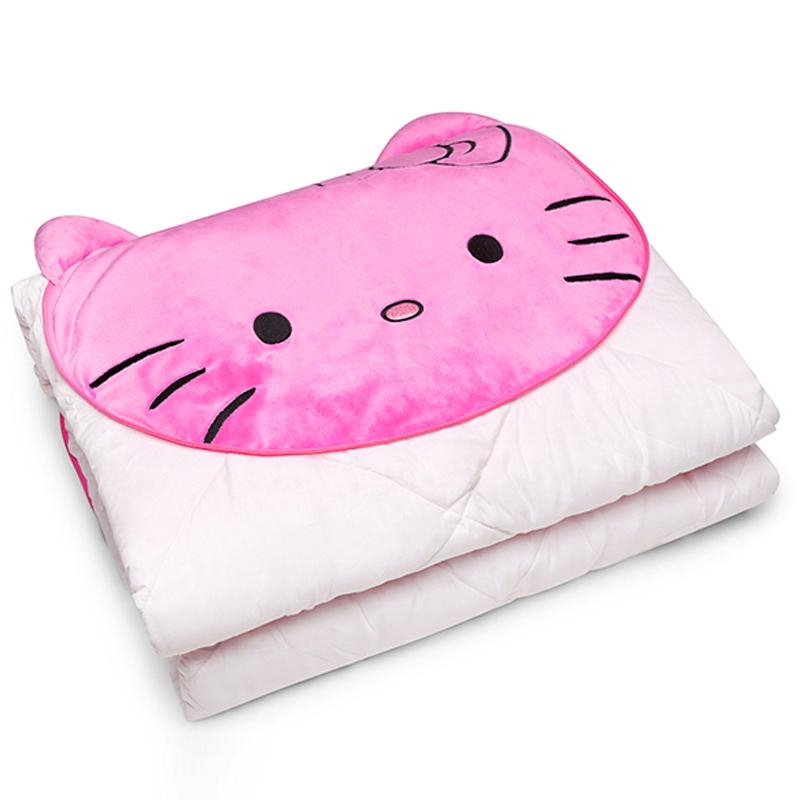 自動車哈きカツンハローキティの綿昼休み両用エアコン布団枕抱き枕hellokittyソファクッション