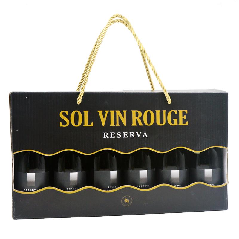 网红小瓶酒6支装整箱礼盒法国原酒进口红酒187ML干红甜白葡萄酒全信网