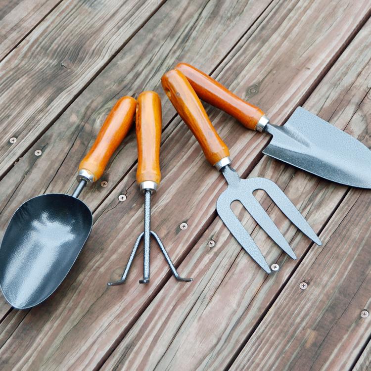 红木柄园艺工具填土铁花铲多肉桶铲养花挖土工具种花种菜铲子套装