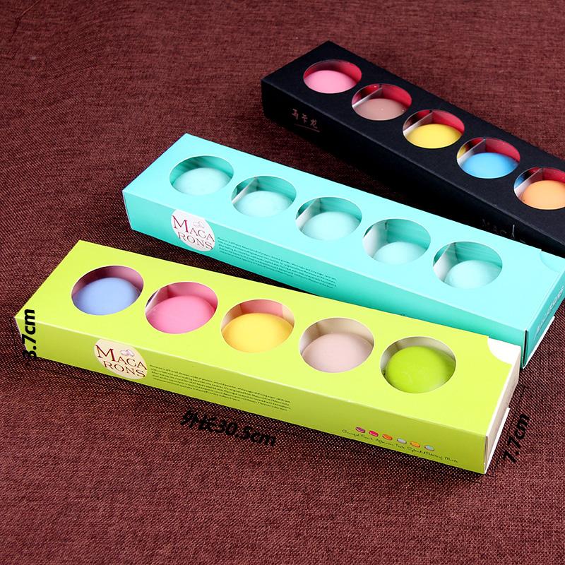 Emballage de cuisson mage noir de type enveloppe avec la main de l'emballage de boîtes de boîte de cookies macaron de boîte à gâteau