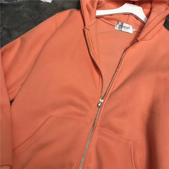 - otthon van BIGKING 2017. ez bő narancssárgás rózsaszín kardigánnal kapucnis cipzár jelentős 卫衣 fehér nő