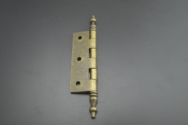Die 2,5 - Zoll - Bronze scharnier zwei spitzen kopf scharnier holztür scharnier krone antike krone schranktür accessoires Dick